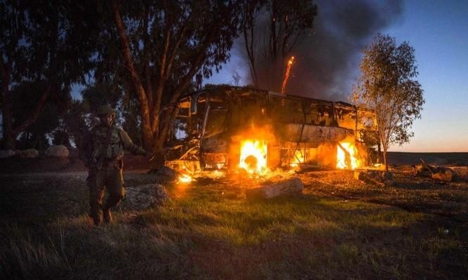 """""""الجهاد"""" تكشف عن صاروخ جديد والاحتلال يحقق باستهداف الحافلة"""