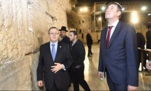 احتجاج فلسطيني: وزير خارجية التشيك يتجول بباحة البراق