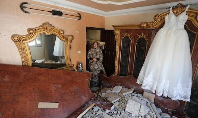 حفل الزفاف ما زال قائما رغم قصف الاحتلال!