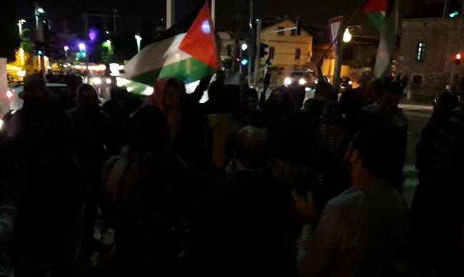 حيفا: مظاهرة انتصارا لغزة