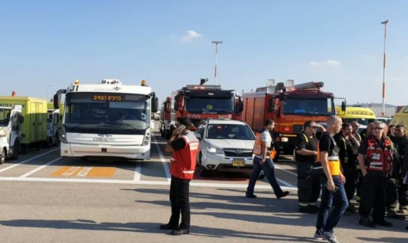 حالة طوارئ في مطار اللد