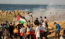 إصابات بقمع الاحتلال المسير البحري في غزة