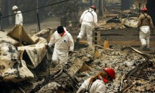 استمرار البحث عن مفقودين عقب حريق كاليفورنيا