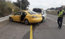 إصابتان خطيرة ومتوسطة في حادث طرق على مفرق الرامة