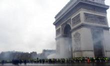 الشرطة الفرنسية تعتدي على متظاهرين وسط باريس