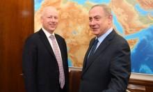 السلطة: مهمة غرينبلات تسويق رؤية نتنياهو لحل الصراع