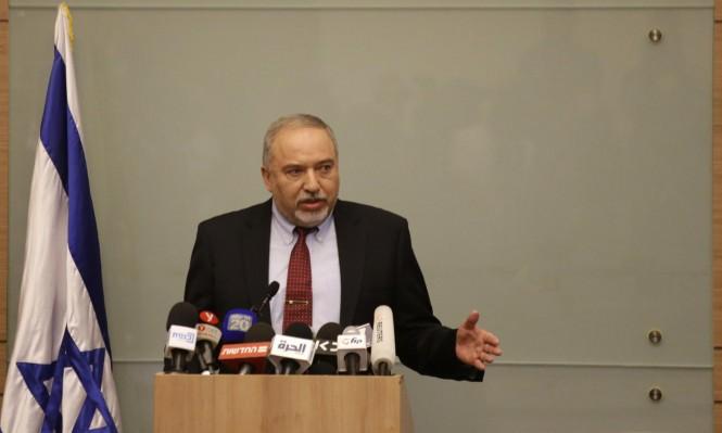 ليبرمان التقى ماجد فرج وحسين الشيخ قبل استقالته