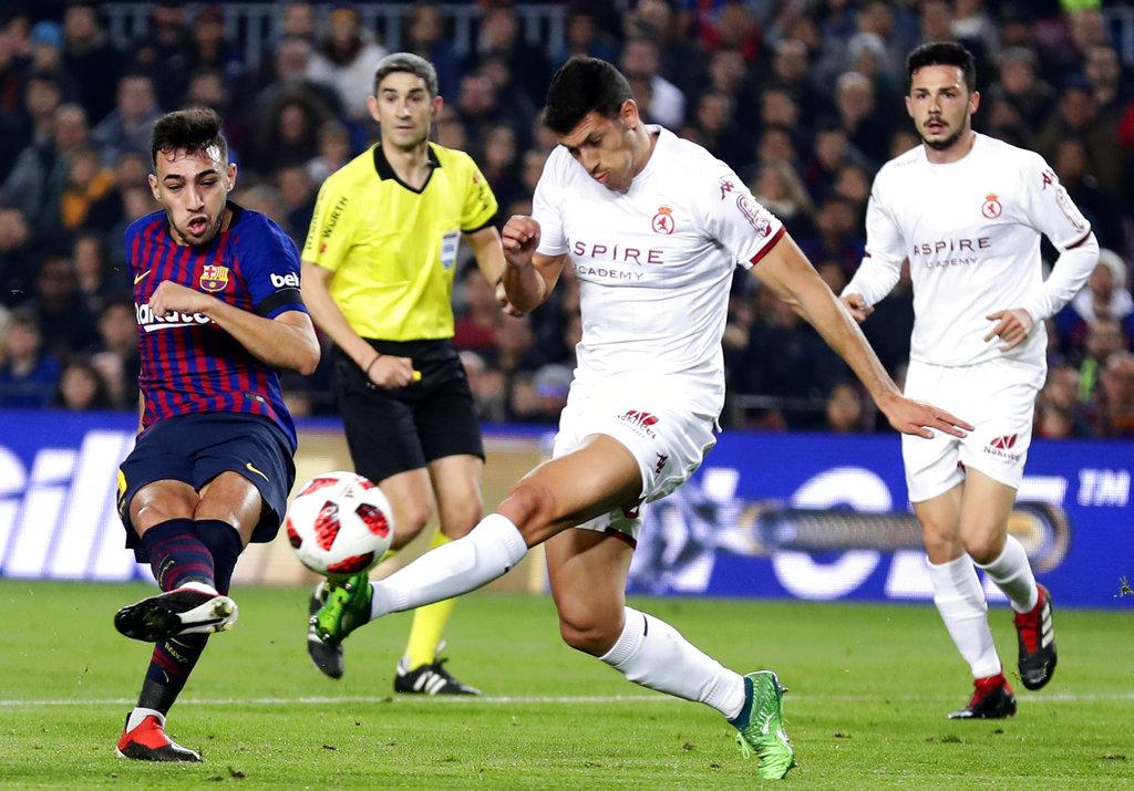 برشلونة يسحق ليونيسا ويتأهل لثمن نهائي كأس الملك