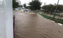 يوم عاصف: أمطار غزيرة وثلوج في جبل الشيخ