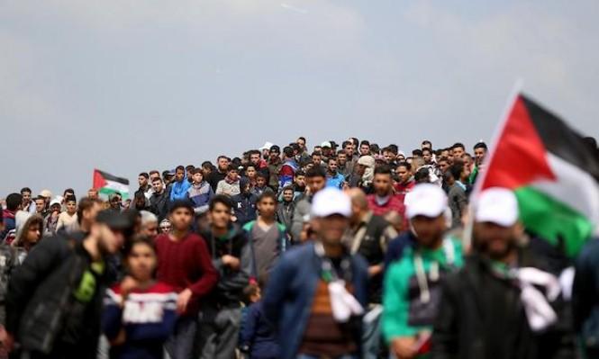 33 مصابًا برصاص الاحتلال في مسيرة العودة الأسبوعية بغزة