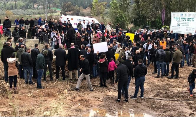 مظاهرة  في صفورية احتجاجًا على هدم  عين القسطل