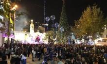 الناصرة تحتفل بإضاءة أكبر شجرة ميلاد في الشرق الأوسط