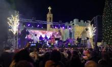 أغانٍ وفرحة واحتفال قبيل إضاءة شجرة الميلاد في الناصرة