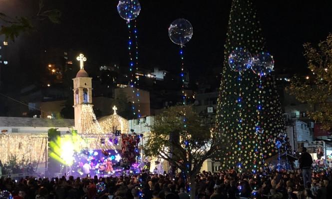 الناصرة تكتسي بحُلّة عيد الميلاد