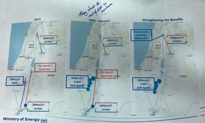 """في لقاء سري: إسرائيل تقدم للأردن اقتراحات بديلة لـ""""قناة البحرين"""""""