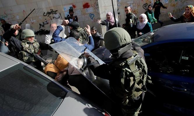 أمن السلطة يقمع مسيرات بالخليل ونابلس