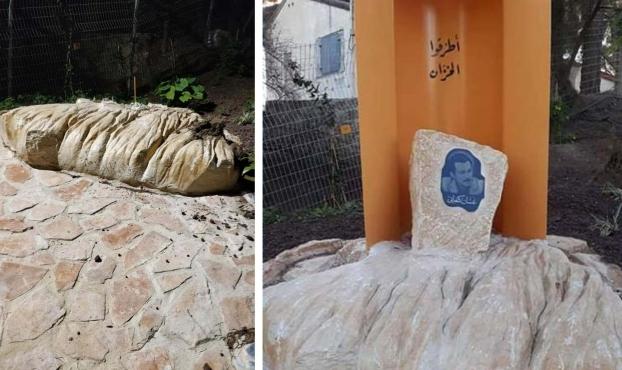 عكا: إزالة النصب التذكاري لغسان كنفاني