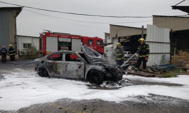 الناصرة: إصابة شاب بحروق خطيرة إثر اندلاع النار بسيارة