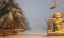 فيديو وصور: الثلوج تتساقط في جبل الشيخ