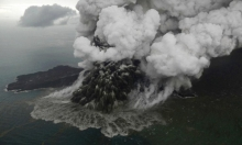 بركان التسونامي في إندونيسيا يتقلّص لربع حجمه