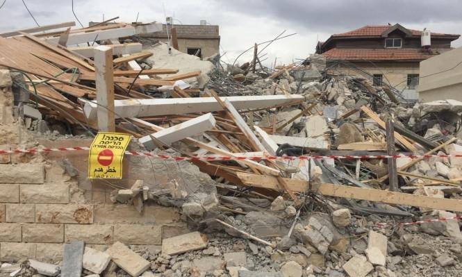 هدم منزل كامل في اللد بحجّة البناء غير المرخص الشهر الماضي (عرب 48)