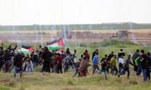 """غزة: إصابة 15 بجروح جراء قمع الاحتلال لمسيرة """"مقاومة التطبيع"""""""