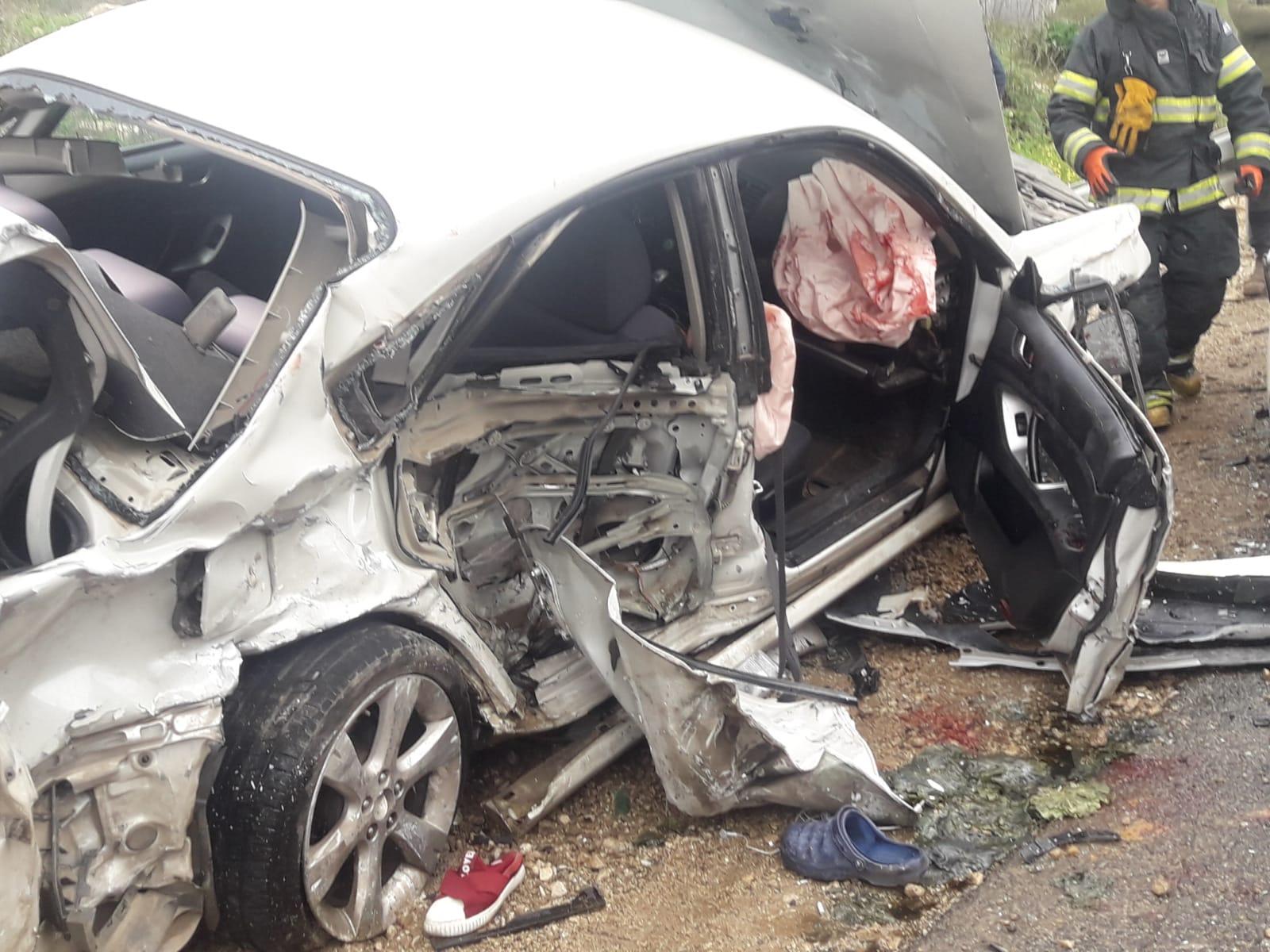 4 إصابات إحداها خطيرة في حادث طرق قرب عرابة