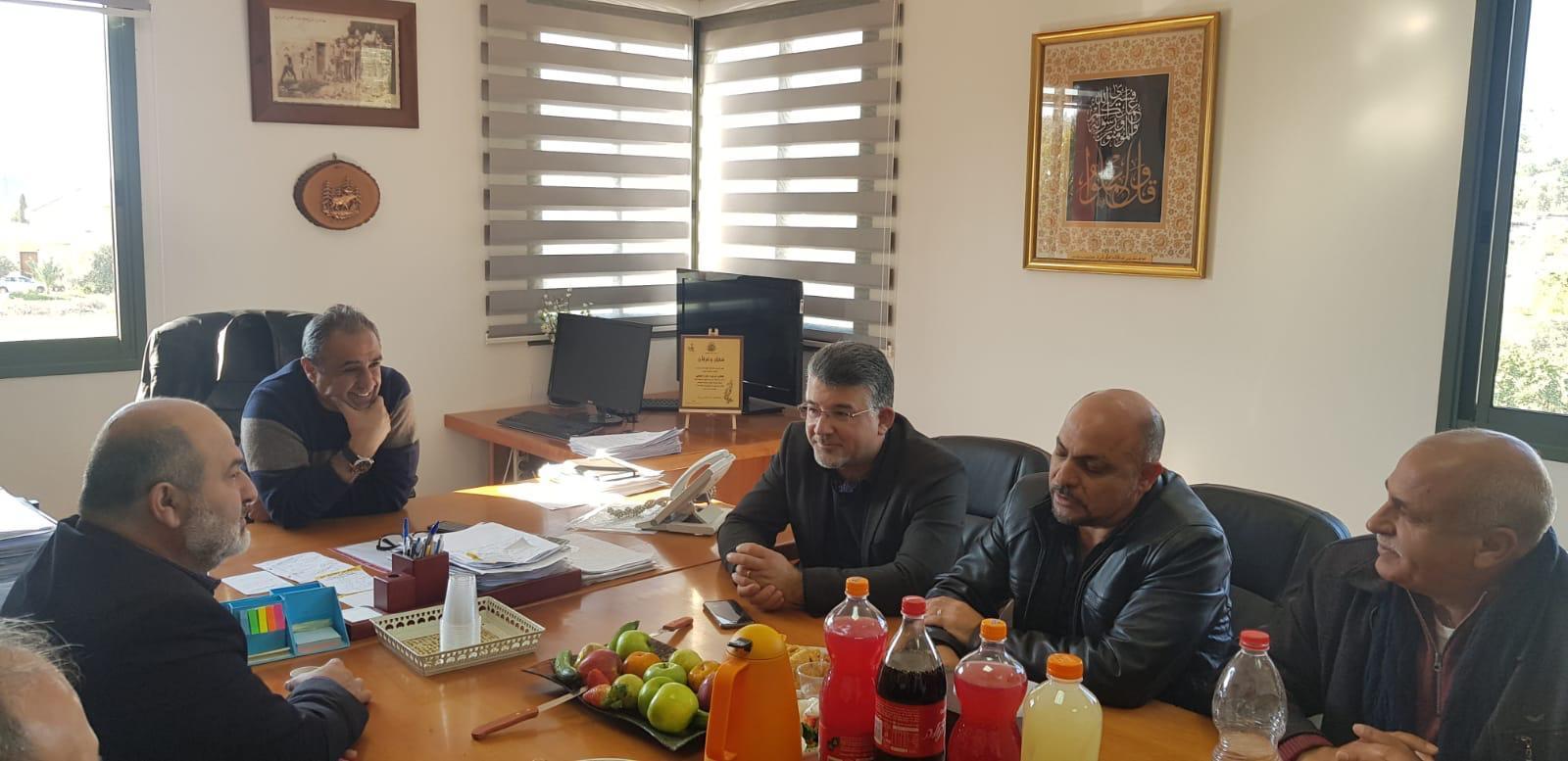 القائمة المشتركة تزور رئيس اللجنة القطرية لرؤساء السلطات المحلية العربية