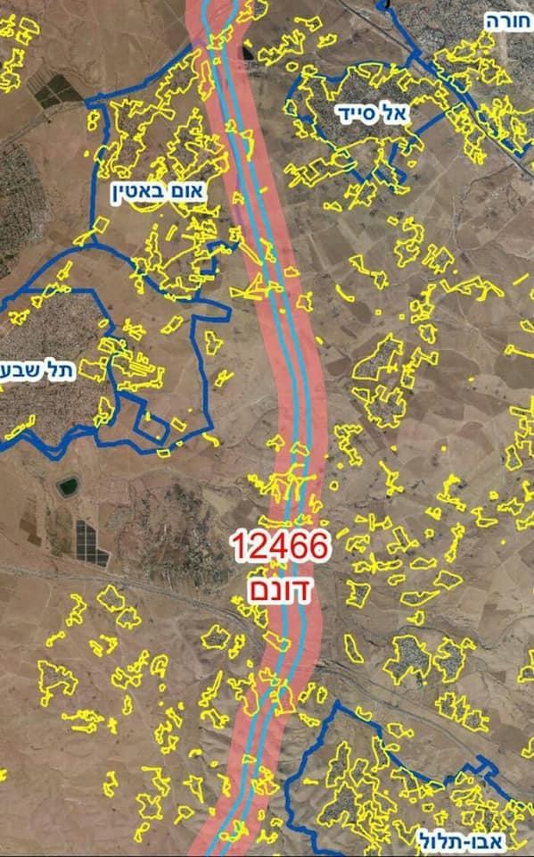 """مخطط """"شارع 6 عابر النقب""""... على حساب أراضي العرب"""
