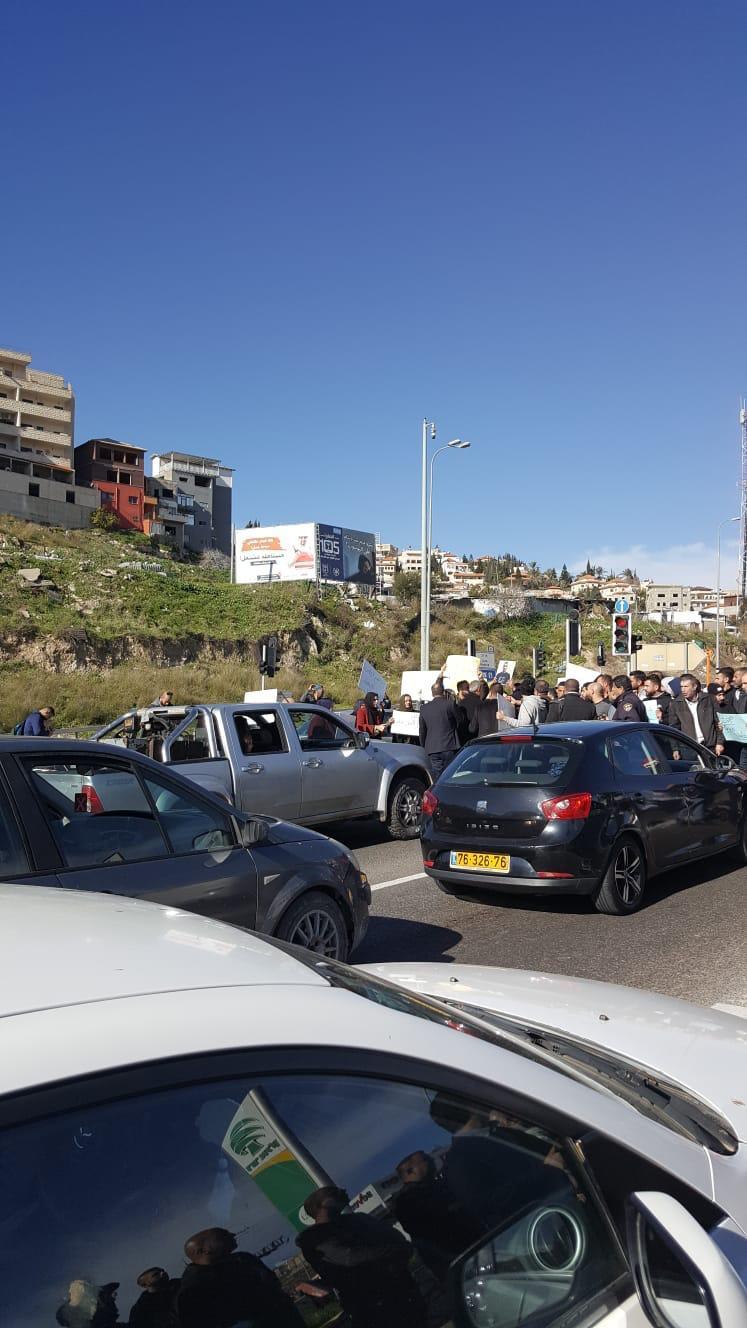 تظاهرة بأم الفحم احتجاجا على جرائم القتل بالمجتمع العربي