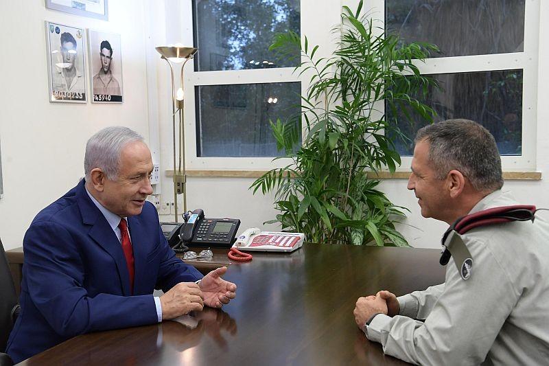 كوخافي ونتنياهو في أول اجتماع بينهما (مكتب نتنياهو)