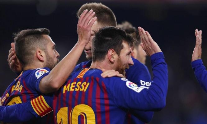 برشلونة يكتسح ليغانيس بثلاثية مقابل هدف