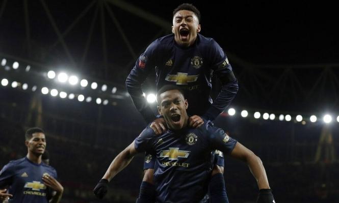 مانشستر يونايتد يطيح بآرسنال خارج كأس الاتحاد