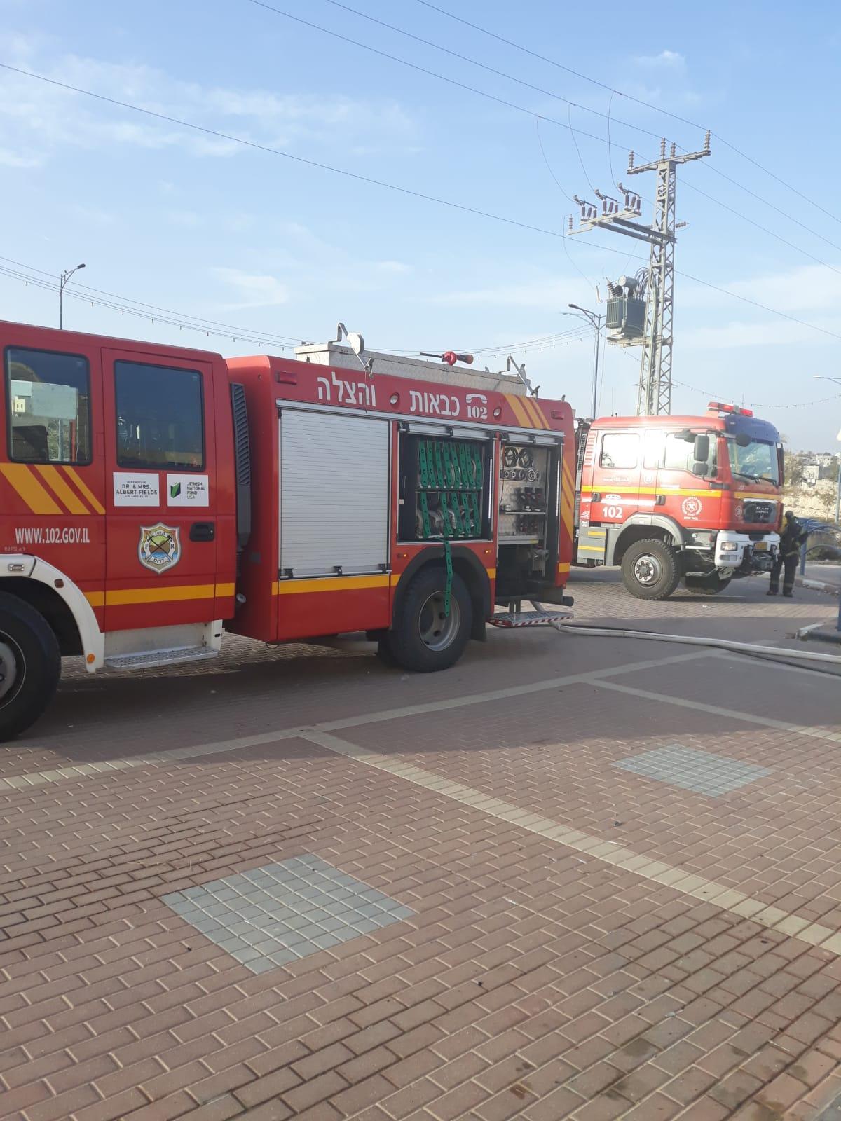 عرعرة النقب: أضرار جسيمة إثر حريق في قسم الجباية