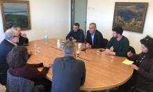 زحالقة يجتمع بإدارة جامعة حيفا لمناقشة قضايا طلّابية