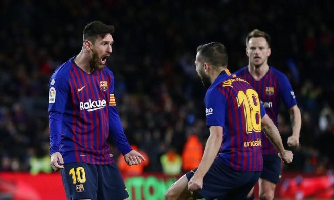 ثنائية ميسي تنقذ برشلونة من الخسارة