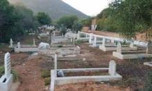 هدم جدار مقبرة في وادي سلامة