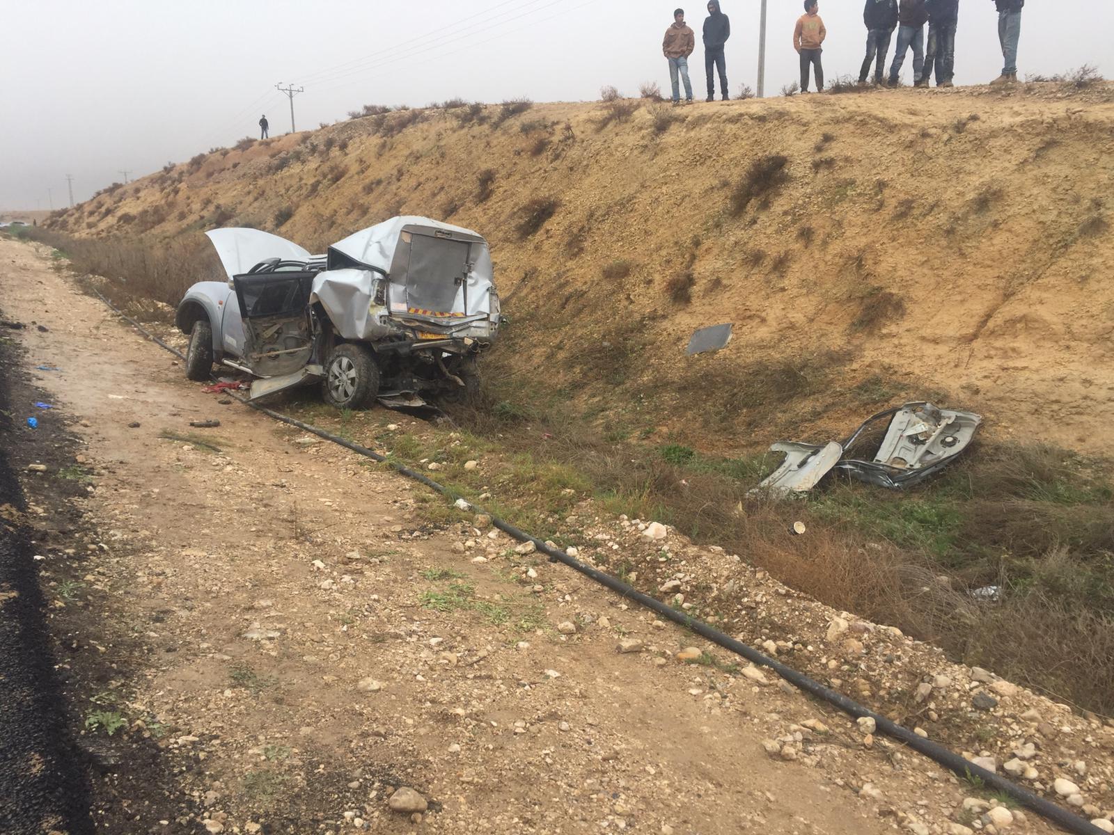 النقب: 5 إصابات بينها خطيرة في حادث طرق