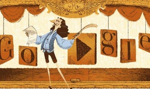"""""""جوجل"""" تحتفي بمؤسس الكوميديا الراقية... موليير"""