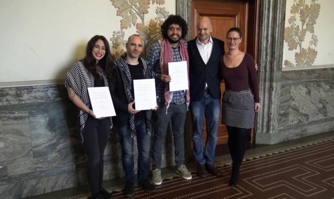 """بلدية كوبنهاغن تمنح """"جائزة الشجاعة"""" لـ3 ناشطين في BDS"""