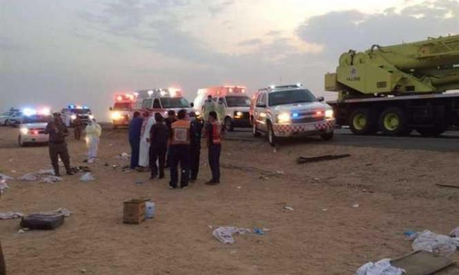مصرع معتمر فلسطيني وإصابة 10 بحادث طرق بالسعودية