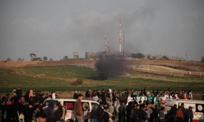 غزة: 20 مصابا جراء قمع الاحتلال لمسيرة العودة الأسبوعية