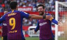 هاتريك لميسي: فوز مثير لبرشلونة على إشبيلية