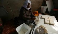 المُسنة الفلسطينية حياة الكيلاني من جنين تصنع الجبن