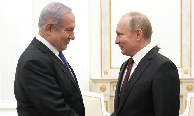 نتنياهو لبوتين: استمرار التنسيق الأمني ومجابهة التموضع الإيراني