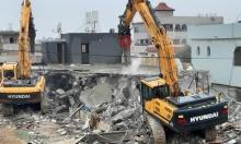 اللد: هدم منزل شاهر أبو زايد بحجة البناء غير المرخص