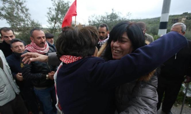 الأسيرة خالدة جرار تعانق الحرّيّة