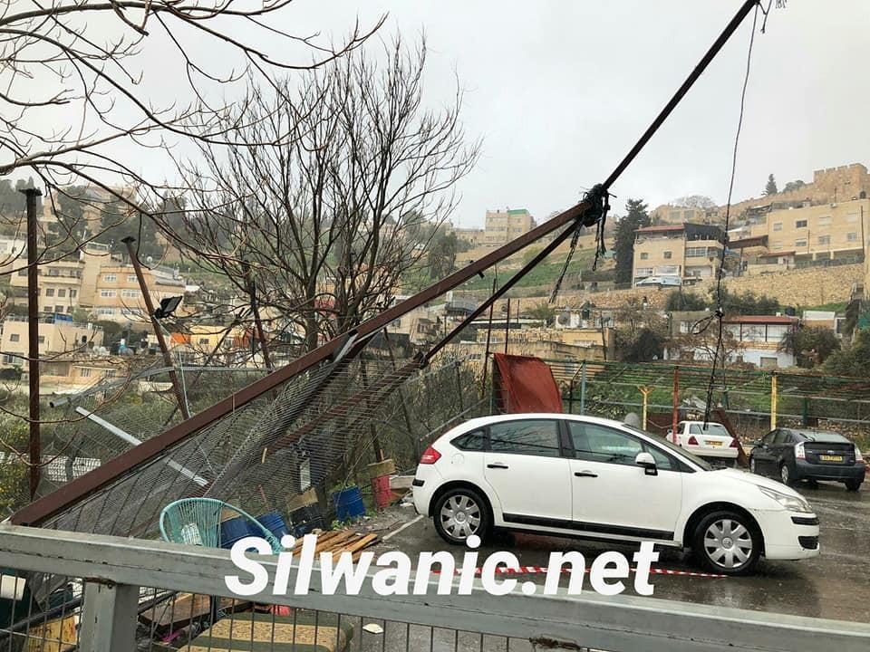 القدس: الأمطار تكشف حفريات للاحتلال أسفل وادي حلوة