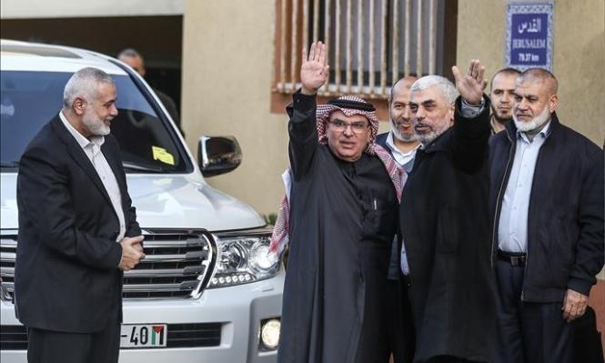 العمادي في غزة وآلية جديدة لتحويل المنحة القطرية