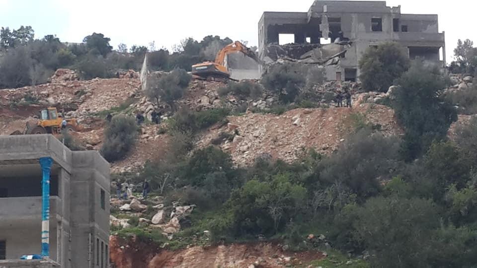 هدم منازل في وادي عارة